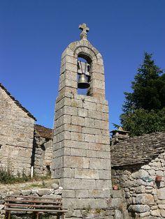Clocher de tourmente de La Fage - Saint-Étienne-du-Valdonnez,Lozère,France.