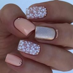 Floral play an important role in nail art design. Many people like the floral nail art design. In this article, we have collected 65 stylish floral nail art designs for yo Beach Nail Designs, Cute Summer Nail Designs, Elegant Nail Designs, Flower Nail Designs, Elegant Nails, Nail Art Designs, Nails Design, French Nails, Nails Kylie Jenner