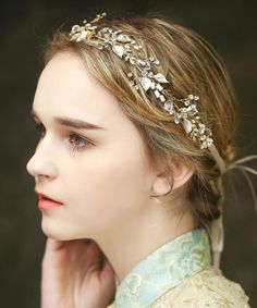 Look at this Gold Flower Headband on #zulily today!