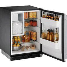 Kompakter Kühlschrank / aus Edelstahl / Eiswürfelspender COMBO® : CO1175 U-LINE