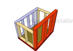Large Dog House - Step by step Plans | HowToSpecialist - How to Build, Step by Step DIY Plans Large Dog House Plans, Extra Large Dog House, Large Dog Crate, Large Dogs, Pallet Dog House, Large Dog Clothes, Roof Shapes, Cool Dog Houses, Floor Framing