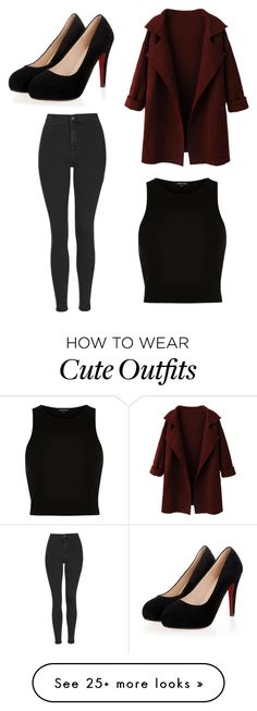 """Cute lil outfit"" by punk-strider on Polyvore featuring WithChic, Topshop, River Island, women's clothing, women, female, woman, misses and juniors"