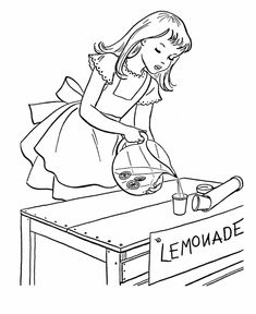 july 4th coloring pages july 4th lemonade stand