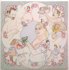 Brooklyn Museum: Elizabeth A. Sackler Center for Feminist Art: Feminist Art Base: Orly Cogan Contemporary Embroidery, Modern Embroidery, Embroidery Art, Textile Fiber Art, Textile Artists, Fibre Art, Surface Art, Feminist Art, Art Base
