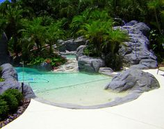 Backyard Swimming Pool with Palm Trees, Swimming Pool Spa, Swimming Pool Slide, Swimming Pool Waterfall and Swimming Pool Water Feature Swimming Pool Slides, Amazing Swimming Pools, Swimming Pool Photos, Small Swimming Pools, Small Backyard Pools, Backyard Pool Designs, Above Ground Swimming Pools, Swimming Pools Backyard, Swimming Pool Designs