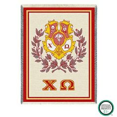 Chi Omega Sorority Stadium Blanket