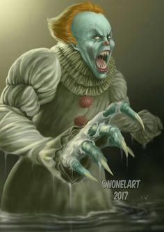 """Képtalálat a következőre: """"it Clown Horror, Arte Horror, Horror Books, Horror Movies, New Movies, Movies And Tv Shows, Creepy, Scary, Evil Clowns"""