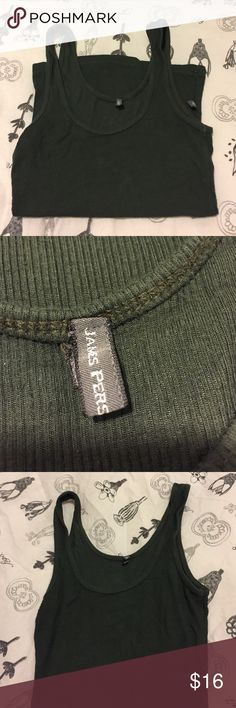 James Press hunter green robbed stretchy tank James Perse hunter green ribbed stretchy tank. Size 1, fits like XXS. Super soft and stretchy. No visible wear. James Perse Tops Tank Tops