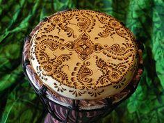 Beautiful henna drum