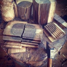 Hatchet+Bear Viking's #BeardCombs are all crafted from the same 400 year old walnut tree..
