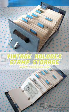 Stamp Storage - Vintage Rolodex