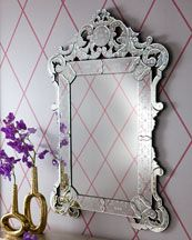 "Horchow ""Margaux"" Venetian Mirror...going over my new mother of pearl inlay dresser! $759"