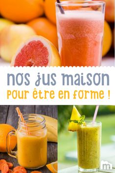 Jus de fruits frais fait-maison /// #jus #fruits #marmiton #recette #cuisine #cuisine #brunch