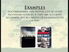 What are some examples of primary sources?