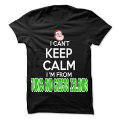 Awesome Tee Keep Calm Turks and Caicos Islands... Christmas Time - 99 Cool City Shirt ! T shirt