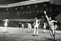 Dundee United v Grasshoppers Zurich 1970 Fairs Cup. United's Jim Henry celebrates the injury time goal by Alex Reid in the 3-2 victory