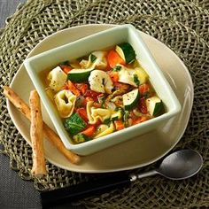 "Contest-Winning Veggie Tortellini Soup Recipe -""Italian cuisine has more to offer than spaghetti and pizza. Just check out this mouthwatering, healthy soup. I've served it to company with rave reviews along with requests for the recipe."" —Priscilla Gilbert, Indian Harbour Beach, Florida"