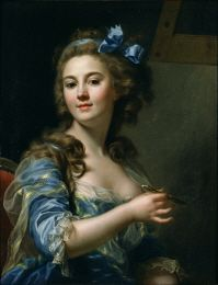 France in the 18th century can be considered an age of women, as women began to appear in new roles throughout society. This was also the case in the art world, where two women painters Elisabeth-Louise Vigée, Le Brun and Adélaïde Labille-Guiard, began to make a living as painters at the end of the 18th century. Capet, born in Lyon and Capet's name appeared as one of the 21 women who displayed works in the Salon of 1791, immediately after the French Revolution.