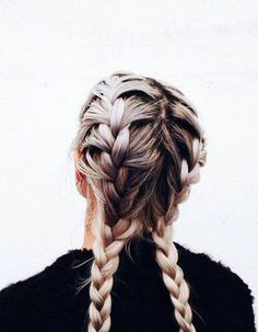 Double tresse collée