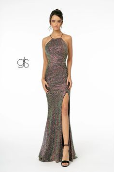 Sequin Fitted Long Prom Dress Evening Gown | The Dress Outlet