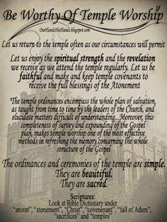 Free Printable- Temple Worship