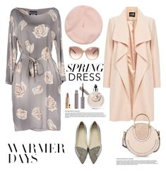 """Spring Dresses"" by ellie366 ❤ liked on Polyvore featuring Boutique Moschino, Sophia Webster, Chloé, 100% Pure, Valentino, nude, floraldresses, springdresses, circlebag and fancyflats"
