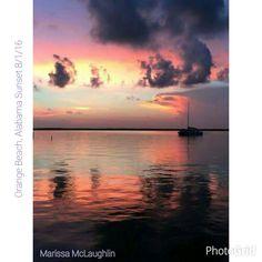 Orange Beach, Alabama 8/1/16 Sunset.  Photographer credit: Marissa McLaughlin.