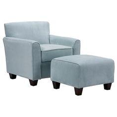 2 Piece Livingston Arm Chair & Ottoman Set