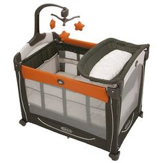 Graco Element Pack 'n Play Playard with Stages in Tangerine $136