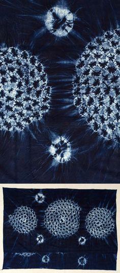 Africa   Adire Oniko wrapper from the Yoruba people of Western Nigeria   ca. 1950-66   Cotton; indigo dyed