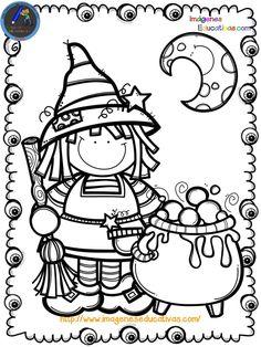 Librito para colorear en HALLOWEEN - Imagenes Educativas Halloween Arts And Crafts, Theme Halloween, Halloween Clipart, Halloween Cards, Fall Crafts, Fall Halloween, Halloween Decorations, Halloween Infantil, Moldes Halloween