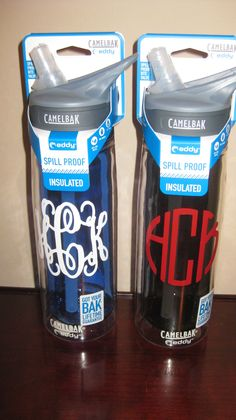 Personalized Camelbak (insulated) waterbottles, via Etsy.