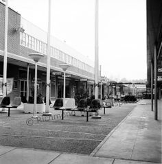 """The Jan. 30, 1961, edition of The Richmond News Leader included a photo essay titled """"The Changing Skyline – and Landscape – in Richmond's Bustling Retail Districts."""" Among examples was a new pedestrian plaza at the Willow Lawn shopping center."""