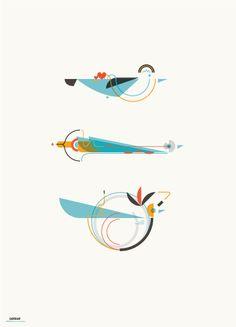 Birds by Leandro Castelao