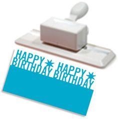 Martha Stewart Deep Edge Punch - Happy Birthday