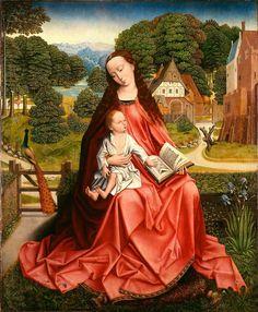 La Vierge à l'enfant dans un paysage du Minneapolis Institute of Arts, attribuée à Aert van den Bossche ou le Maître au feuillage en broderie