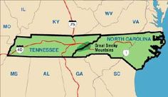 tn national parks Map of Great Smoky Mountains National Park