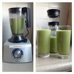 Groene smoothie andijvie-walnoten-appel-banaan-mango Healthy Smoothies, Healthy Drinks, Healthy Recipes, Juice Recipes, Healthy Food, Magic Bullet, Alcoholic Drinks, Good Food, Paleo