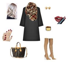"""Winter LBD"" by leopardandbling on Polyvore featuring Roberto Cavalli, Evelyn K, Hermès, Eddie Borgo, Louis Vuitton, Fiebiger, women's clothing, women, female and woman"