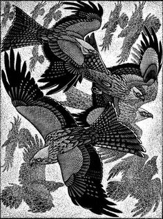 Red Kites and Ravens  by Colin See-Paynton