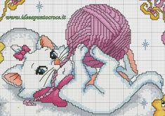 SCHEMA NASCITA MINOU MARIE ARISTOGATTI PUNTO CROCE Disney Con Punto Croce Aristogatti E 9 Con Punto Croce Aristogatti E 1500x1061px Cross Stitch Love, Cross Stitch Animals, Cross Stitch Kits, Cat Cross Stitches, Cross Stitching, Cross Stitch Embroidery, Stitch Disney, Gata Marie, Disney Cross Stitch Patterns
