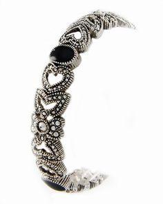 Silver Tone Black Marcasite Epoxy Stretch Bracelet Snippets Jewelry,http://www.amazon.com/dp/B008O7ZK38/ref=cm_sw_r_pi_dp_J3Iqsb10BA3EKHEE