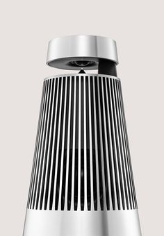 Wireless Speakers System BeoSound 2 Silver Black Bang & Olufsen 360 degree sound and meticulous aluminium craftmanship Wireless Speaker System, Diy Speakers, Stereo Speakers, Form Board, Bang And Olufsen, Speaker Design, O Design, Desktop, Wearable Technology