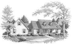 Elevation of Farmhouse  House Plan 96558 2184 sf