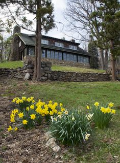 The Log House in Spring. Photo by Ray Stubblebine. The Stickley Museum at Craftsman Farms :: About Craftsman Farms
