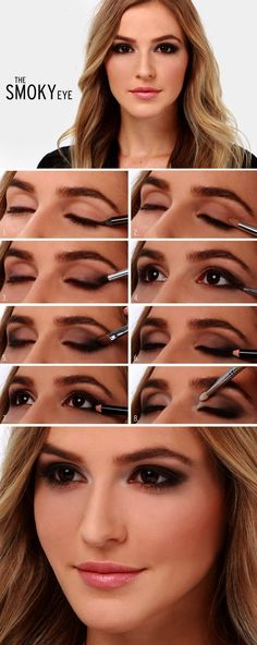 smokey eyes make-up, abend make-up in braun und schwarz, blonde locken . - Laundry Room - Wedding Make Up - DIY Jewelry Easy - Hairstyle For Medium Length Hair - DIY Kid Room Ideas Smoky Eye Makeup Tutorial, Wedding Makeup Tutorial, Eyeliner Tutorial, Brown Smokey Eye Tutorial, Makeup Tutorial Step By Step, Perfect Makeup, Gorgeous Makeup, Pretty Makeup, Awesome Makeup