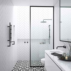 small-bathroom-ensuites Designing a beautiful small ensuite bathroom can be a real challenge with such limited space. Discover our favourite ideas for a smaller ensuite! Walk In Shower Screens, Shower Panels, Walk In Shower Enclosures, Ensuite Bathrooms, Bathroom Renovations, Small Bathrooms, Bathroom Vanities, Modern Bathrooms, Remodel Bathroom