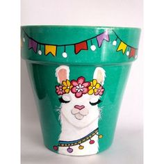 Flower Pot Art, Flower Pot Design, Flower Pot Crafts, Painted Plant Pots, Painted Flower Pots, Pottery Painting Designs, Mexican Crafts, Mother's Day Diy, Craft Night