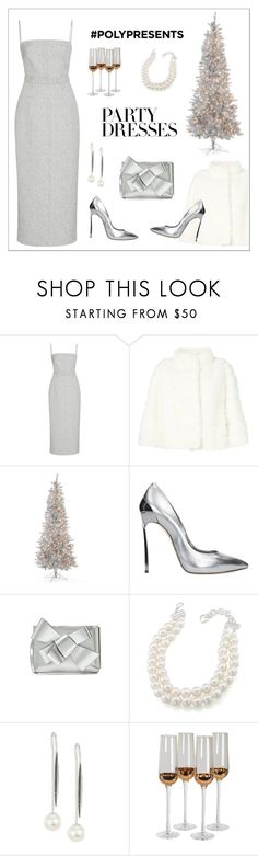 """""""#PolyPresents: Party Dresses"""" by alinepinkskirt on Polyvore featuring Emilia Wickstead, Yves Salomon, Casadei, Delpozo, Carolee, Yoko London, Posh Totty Designs, contestentry and polyPresents"""