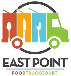Rolling Revolution Food Trucks--idea for Booktober Fest Food Truck festival Food Logo Design, Food Truck Design, Logo Food, Share Logo, Catering Logo, East Point, Food Truck Festival, Creative Logo, Creative Art